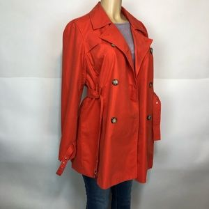 Michael Kors Orange fully lined basic coat size L